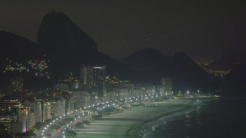 Pan of Rio de Janeiro coastline in Brazil Live Action