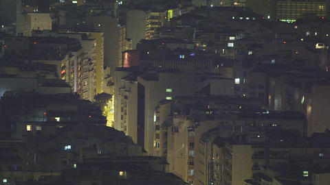 Slow pan of building rooftops in Rio de Janeiro, Brazil Footage