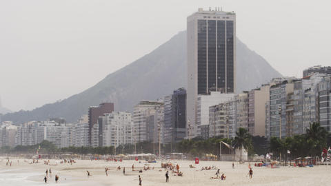 Footage of Rio's Guanabara Bay with the skyline and mountains beyond Footage