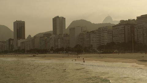 Tracking shot of Rio de Janeiro taken from a helicopter Footage