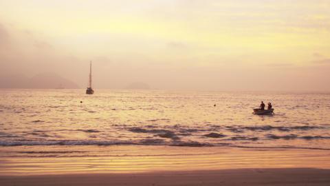 Boating near the beach in Rio de Janeiro, Brazil Footage