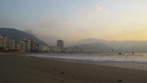 Pan of Rio de Janeiro coast in Brazil Footage