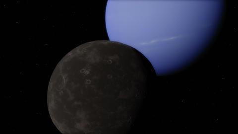 Proteus Moon and Neptune Transit Timelapse Animation