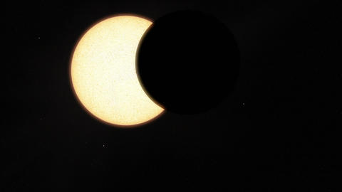 Underexposed Solar Eclipse Animation