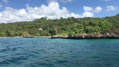 View from the boat on the Samana Peninsula in the Dominican Republic 2 Live Action