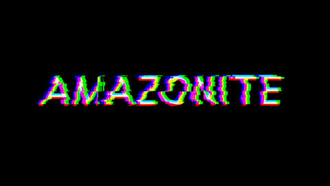 From the Glitch effect arises AMAZONITE. Then the TV turns off. Alpha channel Premultiplied - Matted Animation