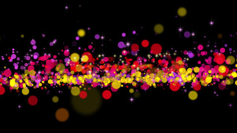 Color Particles and Sparkles Background Animation