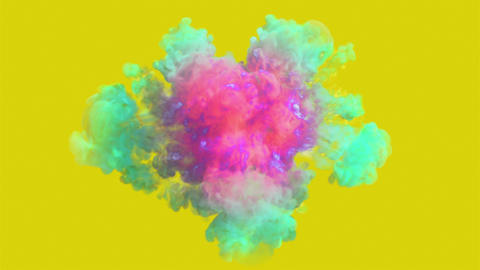 Colored smoke explosion in 4K Animation
