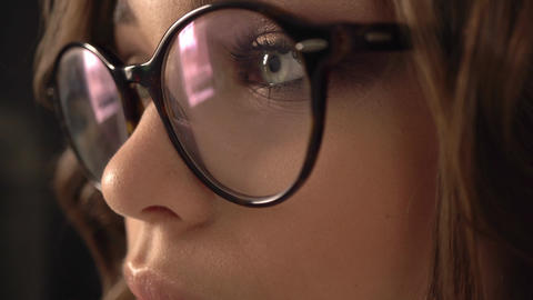 Beautiful young businesswoman wearing glasses Footage