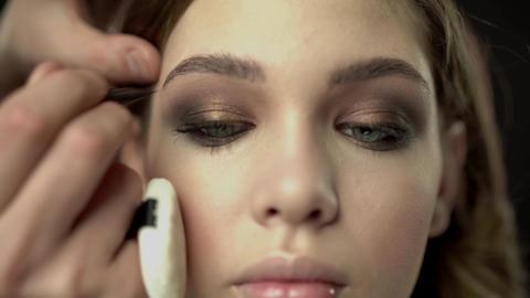 the makeup artist. professional makeup Footage