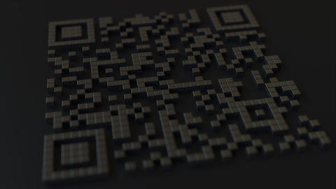 Quick Response or QR code with yen sign. Modern fintech related 3D animation Live Action