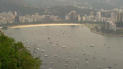 Static shot of Lagoa Rodrigo de Freitas in Rio de Janeiro, Brazil Live Action