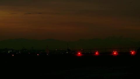 Plane flying low into the Jacarepaguá airport in Rio de Janeiro Footage