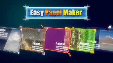 Easy panel maker After Effects Template