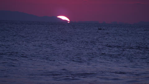 Shot of a boat travelling along the Costa Rican coastline Footage
