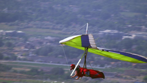 Hang glider is soaring over the South Salt Lake valley in UT Footage