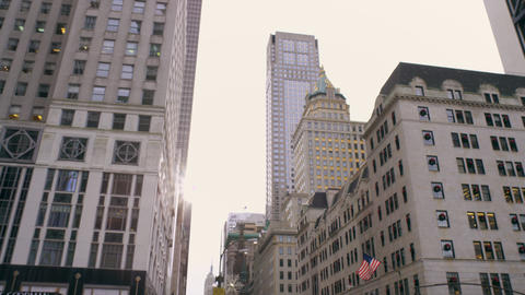 Tilt shot of Bergdorf and goodmans in NYC Footage