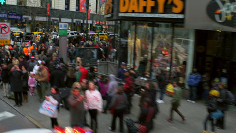Fast tracking shot of crowded street in nyc Footage