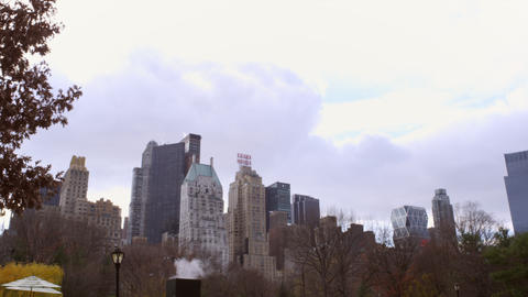 Shot of cityscape in nyc Footage