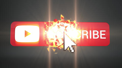 3d Subscribe Button Explosion on Black Animation