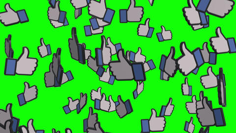 Raining Like Icons on Green Screen Animation