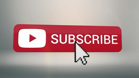 3D Subscribe Button Flip on White Animation