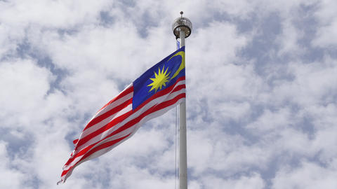 Malaysian flag Footage