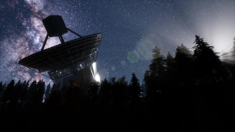 astronomical observatory under the night sky stars Footage