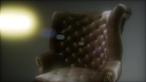 vintage leather armchair boss Footage