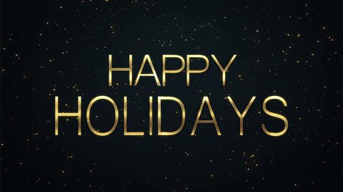 Happy Holodays text with sparkling particles shiny... Stock Video Footage