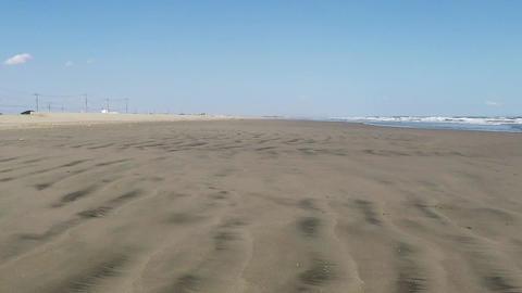 Subjective image of sandy beach Archivo