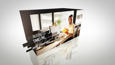 Clean Cubes Slideshow Intro After Effects Template
