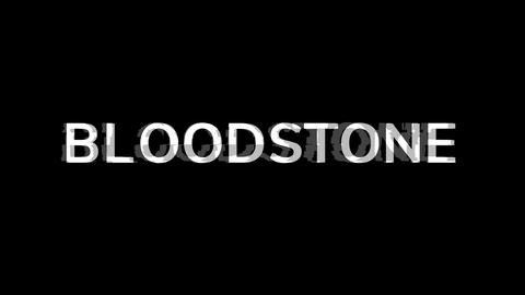 From the Glitch effect arises BLOODSTONE. Then the TV… Stock Video Footage