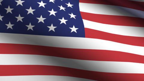 Flag USA Animación