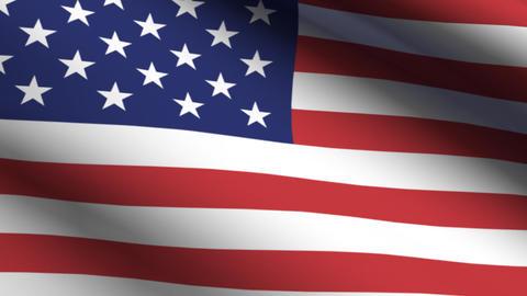 Flag USA Stock Video Footage