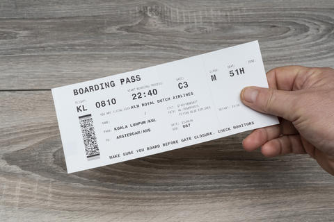 KLM boarding pass Photo