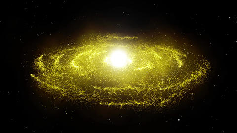 Gold Light Galaxy CG動画素材