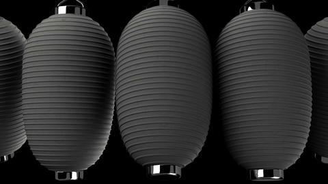 Black paper lantern on black background CG動画