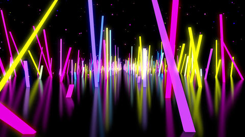 Neon Bars VJ Animation
