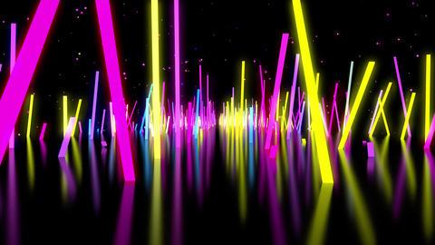 Neon Bars VJ Stock Video Footage