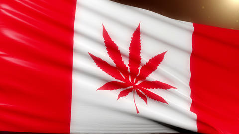 Cannabis Canada Flag Animation