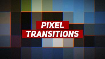 Pixel Transitions Premiere Proテンプレート