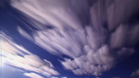 Glitch effect. Bright clouds. Clouds blurred. Time Lapse Footage