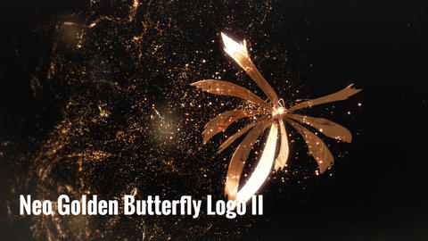 Neo Golden Butterfly Logo V II After Effects Template