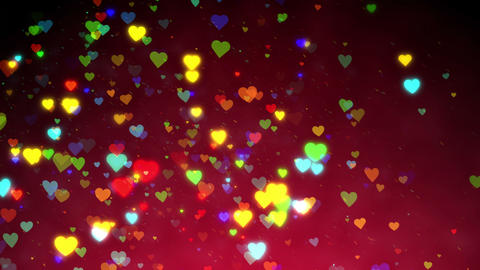 Heart Colorful Background CG動画素材
