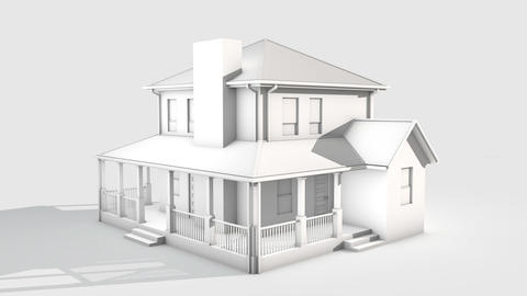 House Building 01 Animation