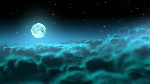 Moon over night clouds loop Videos animados