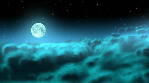 [alt video] Moon over night clouds loop
