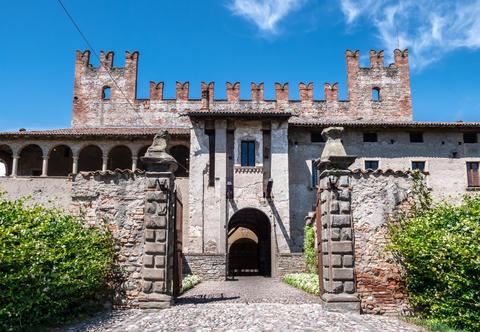 Malpaga castle of twelfth century Photo