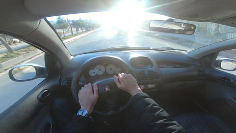 Driving Along Empty Road in Rural Area Footage